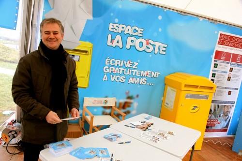 Animations hivernales lors des départs en vacances d'hiver à l'aire de La Chaponne - Espace La Poste