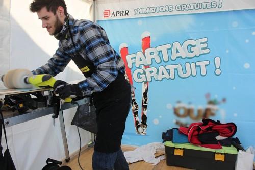 Animations hivernales lors des départs en vacances d'hiver à l'aire de La Chaponne - Fartage